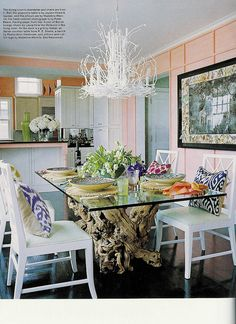 fabulous table & the chandelier