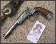 Stevens Model No. 35 Single Shot Target Pistol  Dennis Reigel Gun Engraving