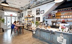 The shop includes a pastry and coffee counter serving La Colombe coffee. Haven's Kitchen - Union Sq.