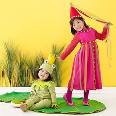 Homemade Halloween Costumes for the Perfect Pair of Kids: The Princess and the Frog (via Parents.com)
