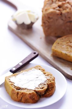 Pumpkin Beer Bread Recipe by gimmesomeoven.com #Bread #Pumpkin #Beer