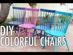 DIY Colorful Chairs with Mr. Kate @cabotstains