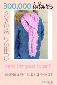 2PM giveaway is a CUTE one! Love this scarf  for spring. Giveaway live for one hour!