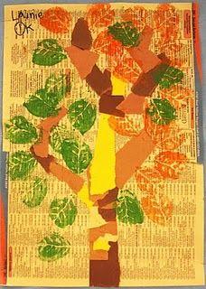 Kindergarten tree art