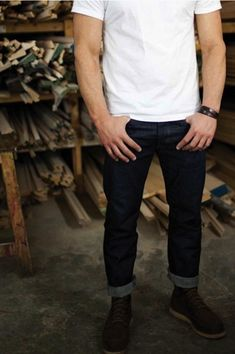 #jeans #t-shirt #apparel #muscles