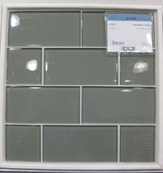 Gray glass subway tile - backsplash