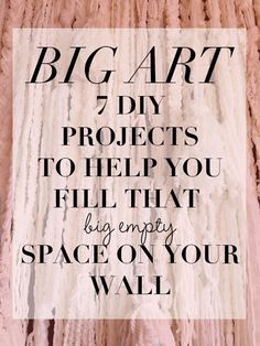 DIY Wall Projects to Help Fill Big Empty Spaces (http://blog.hgtv.com/design/2014/10/02/have-a-big-space-to-fill-on-your-wall-7-diy-art-projects-to-try/?soc=pinterest)