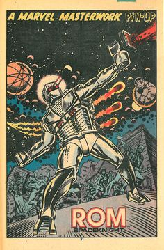 Rom Pin-Up by Al Milgrom  From Rom #003