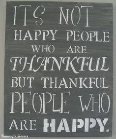 Gray and White Thankful Quote Canvas Painting by KammysKornerShop, $22.00