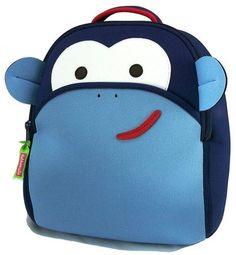 coolest preschool backpacks and bags: Dabbawalla monkey backpack