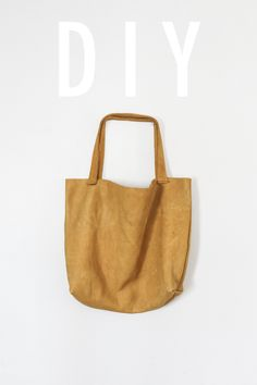 How to sew a leather tote