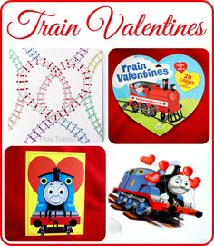 Train Valentines from Play Trains! Includes Thomas & Friends, Dinosaur Train, and steam engine cards. Lots of free printable valentines, too...