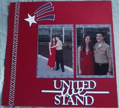United We Stand Military Ball Layout - Scrapbook.com