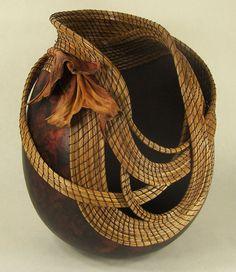 gourd art, win gourd, artwork inspir, art gourd