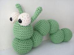 Amigurumi PATTERN: Crochet Inchworm -pdf-
