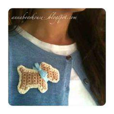 Crochet your very own Scottie Dog Brooch