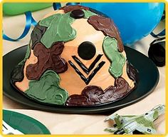 Army Theme Party Cake: