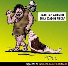 Día de San Valentín en la Edad de Piedra.