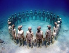 under water museum. Cancun - Mexico