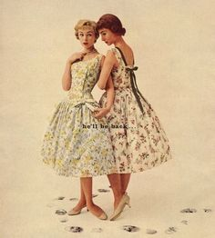 He'll be back… for Lowenstein 'Easytime' cotton dresses, 1950s.