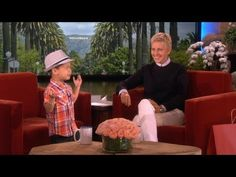 Little 4-year old boy singing When I Was Your Man....so so adorable!! I about died when he grabbed Ellen's hand! hahah!!