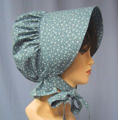 Sun Bonnet  Pioneer Costume  Cotton Floral par stitchintimedesigns, $27,00