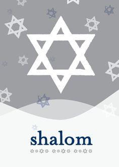 Shalom Style - Hanukkah Greeting Cards in Smoke   DwellStudio