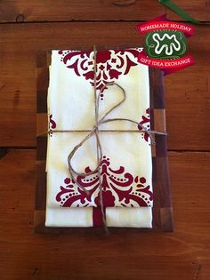 Make this Homemade Holiday Gift: Hand-Sewn, Printed Tea Towels — Homemade Holiday Gift Idea Exchange: Project #4