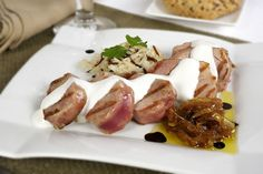 Solomillo De Cerdo Con Cebolla Caramelizada Al Pedro Ximénez y Salsa De Philadelphia. Recetas, Gastronomía, Food, recipes, Gastronomy