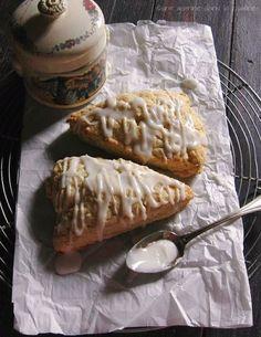 lime + ginger cream scones