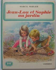 """Jean Lou et sophie au jardin"" Marcel Marlier"