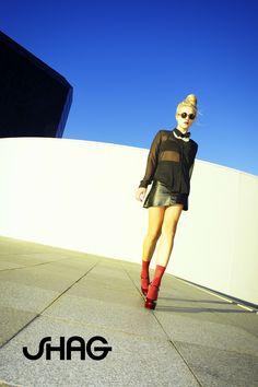 #updo #topknot #miniskirt #shagforlife