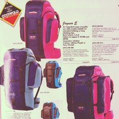 1991 - When 'sac' design was... different! Do you still own (and use?) a Karrimor?