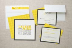 2013 Pantone Color | Lemon Zest - Modern and bright invitations - #pantone #lemonzest #invitations #modern