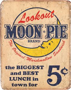 Moon Pie Vintage Tin Sign