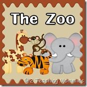 2 Teaching Mommies site with Zoo themed printables to learn graphs, sorting, patterns, spelling, etc. and other homeschool stuff