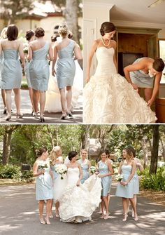 I like the color of the bridesmaid dresses