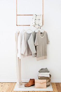 Vosgesparis: A copper clothes rack | Inspiration from Minneapolis /  #tendencias de #colores para proyectos #handmade #primavera #verano. #inspiración #rústica y #natural | #inspiration #rustic #natural #colors