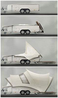 camper trailers, popup camper, awesom campersrv, sydney operainspir, camp idea