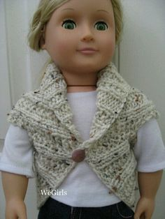 Knit pattern for american girl doll shrug sweater