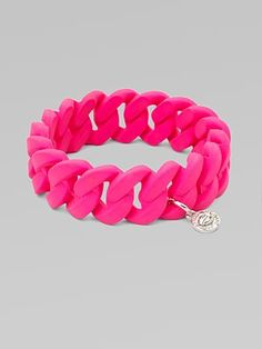 няшечка Marc by Marc Jacobs Rubber Wrapped Structural Chain Link Bangle Bracelet