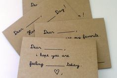 Help a local family fund their adoption! FillintheBlank Greeting Cards Set of 4 by hendersweet on Etsy, $9.00