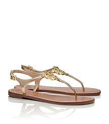 Violet Metallic Thong Sandal
