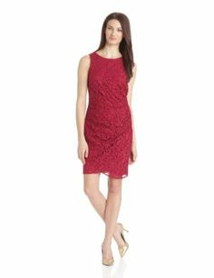 Adrianna Papell Women's Lace Drape Dress