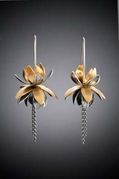 Lotus Earrings by molly dingledine