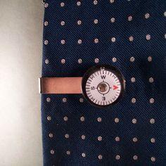 Compass tie clip