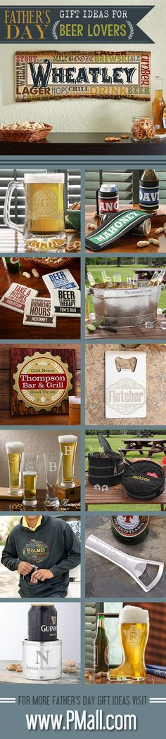 Great Father's Day Gift ideas for Beer Lovers! This site has TONS of really cool gifts for dads and grandpas ... you have to check it out!