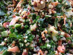 Kale, Quinoa, & Carrot Salad....vegan.