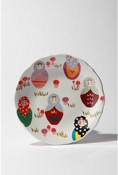 Babushka Plate $8