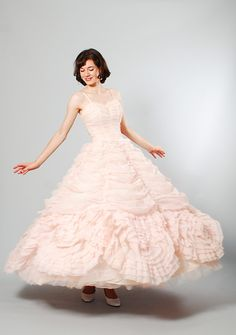 1950s Wedding Dress - 50s Blush Wedding Dress - Sugared Love on Etsy, $798.00